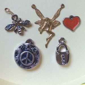 Five Fairy Bee Lock Peace Charms